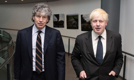 Tim Parker and Boris Johnson