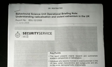 Mi5 Security Service's Behavioural Science Unit Operational Briefing Note