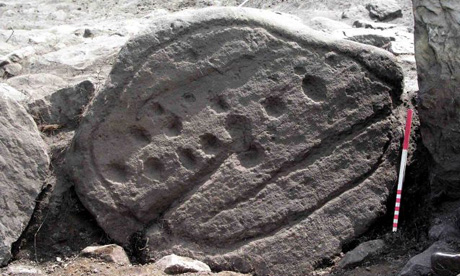 Carved stones found on Fylingdales Moor in North Yorkshire