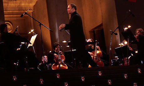 Valery Gergiev conducts a concert for South Ossetia's war dead