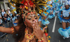 A dancer takes part in this year's Notting Hill carnival