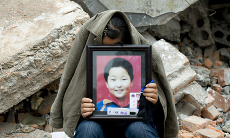 China earthquake protest and vigil at Fu Xin school
