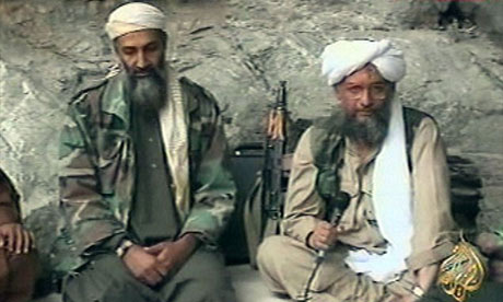 Osama bin Laden, left, with his top lieutenant Egyptian Ayman al-Zawahiri, in one of al-Qaida's own propaganda videos