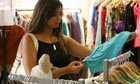 'That dig-and-delve experience' ... rummaging through the clothes rail at a charity shop