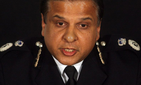 Tarique Ghaffur during a press conference in London