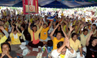Protesters at Phuket airport