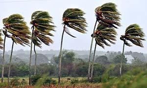 Hurricane Gustav hits Pinar del Rio, Cuba