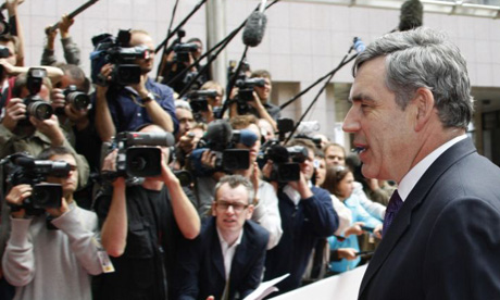 Gordon Brown at the emergency EU summit