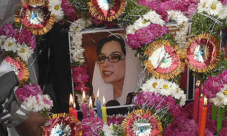 Supporters mourn the day after the assassination of Pakistani opposition leader Benazir Bhutto.