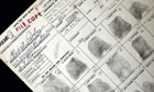 Elvis Presley's concealed weapon application fingerprints