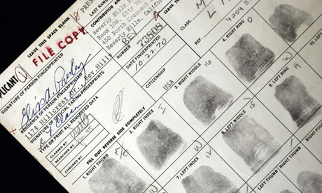 Elvis Presley's concealed weapon application fingerprints