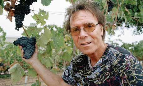Cliff Richard at his vineyard