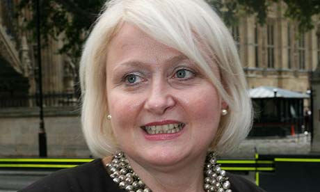 Siobhain McDonagh speaking to reporters on Westminster Green