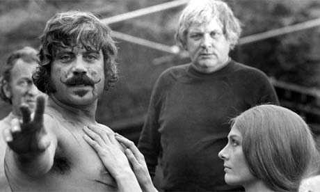 'The Devils' - Oliver Reed, Ken Russell and Vanessa Redgrave on the set - 1971