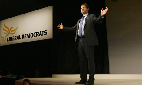 Liberal Democrat leader gives his speech to the party conference in Bournemouth