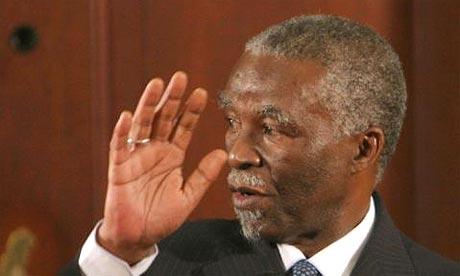 Thabo Mbeki speaks at a press briefing in Pretoria earlier this week