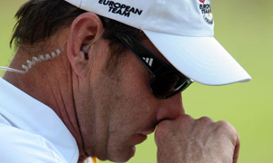 Europe's Ryder Cup captain Nick Faldo after losing to USA