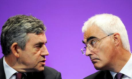 Alistair Darling with Prime Minister Gordon Brown