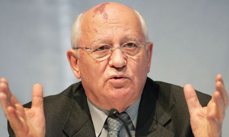 Former president of the Soviet Union, Mikhail Gorbachev