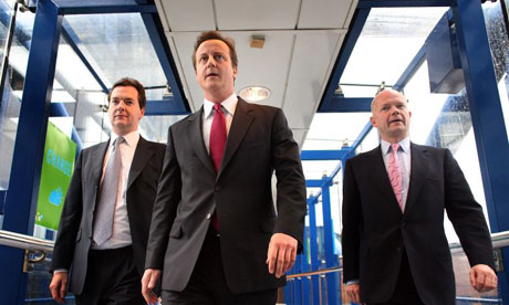 George Osborne, David Cameron and William Hague