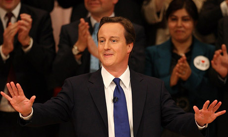 David Cameron during his speech at the Conservative party conference in Birmingham