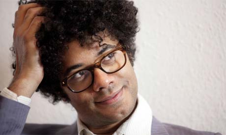 Richard Ayoade, comedian, actor and filmmaker at Warp Films' offices, 2008