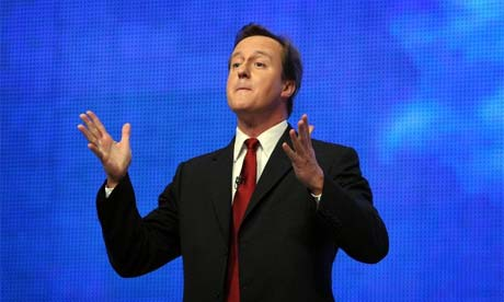 David Cameron addresses Conservative Party Conference, 2008