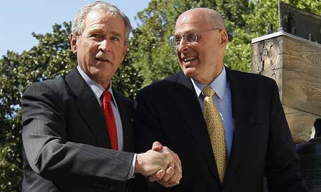 George Bush and Henry Paulson