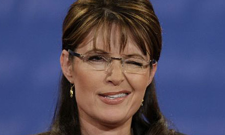 Sarah Palin, winking 