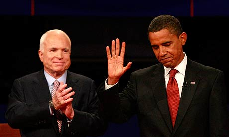 US election campaign: John Mccain and Barack Obama debate