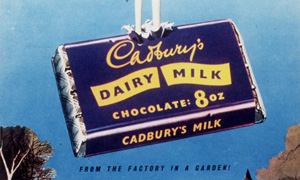 An advert for Cadbury's Dairy Milk