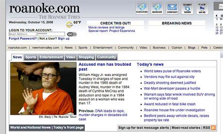 Roanoke Times website
