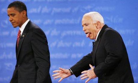 John McCain Chokes