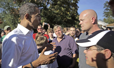 Barack Obama and plumber Joe Wurzelbacher