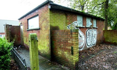 A closed toilet block in Manchester