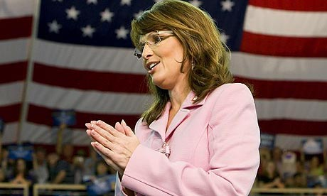 Republican US vice-presidential candidate Sarah Palin speaks during a campaign rally at the Silver Spurs Arena in Kissimee, Florida