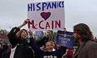 McCain/Palin supporters at a rally