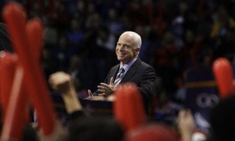 John McCain campaigns in North Carolina. Photograph: Carolyn Kaster/AP
