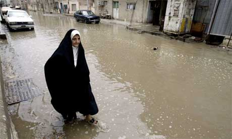 Flooded Baghdad street this week