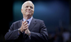 John McCain at a campaign rally at the Crown Center in Fayetteville, North Carolina