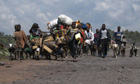 Villagers from across eastern Congo head for Goma
