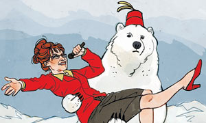 Sarah Palin and a polar bear