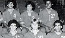 Barack Obama analysis: Barack Obama posing with his 1979 state basketball championship team for Punahou School