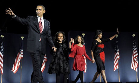 President elect Barack Obama and his family