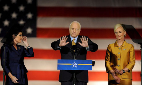 John MCCain makes his concession speech in Phoenix