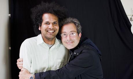 Sarfraz Manzoor with Ben Elton