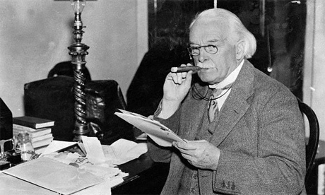 David Lloyd George smoking a cigar