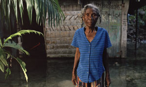 Marie Miracle Andris, 75, at her house in Marigot, south-east Haiti
