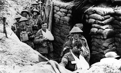 trenches in world war 1. 2008. Troops moving around