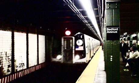 The New York subway in November 2008. Photograph: Paul Owen